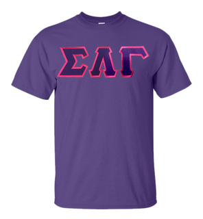 DISCOUNT Sigma Lambda Gamma Sorority Lettered T-shirt