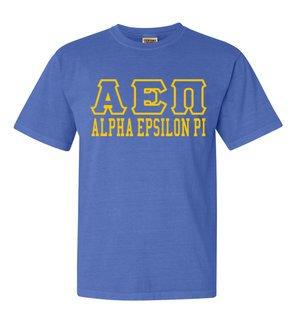 Alpha Epsilon Pi Greek Outline Comfort Colors Heavyweight T-Shirt