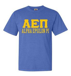 Alpha Epsilon Pi Greek Custom Comfort Colors Heavyweight T-Shirt