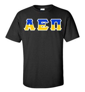 Alpha Epsilon Pi Two Tone Greek Lettered T-Shirt