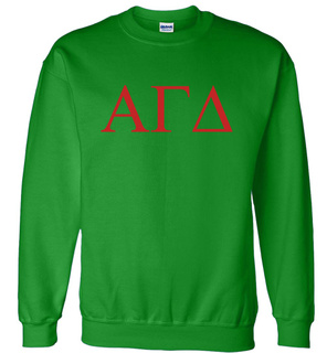 Alpha Gamma Delta Lettered World Famous Greek Crewneck