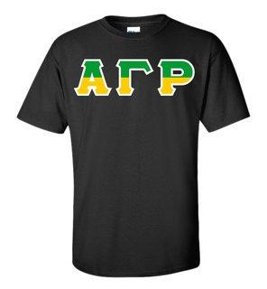Alpha Gamma Rho Two Tone Greek Lettered T-Shirt