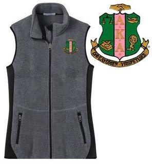 DISCOUNT-Alpha Kappa Alpha Crest - Shield Patch Ladies Pro Fleece Full-Zip Vest