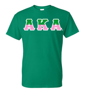 Alpha Kappa Alpha Two Tone Greek Lettered T-Shirt