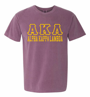 Alpha Kappa Lambda Greek Outline Comfort Colors Heavyweight T-Shirt