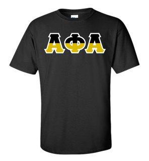 Alpha Phi Alpha Two Tone Greek Lettered T-Shirt