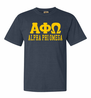 Alpha Phi Omega Greek Custom Comfort Colors Heavyweight T-Shirt