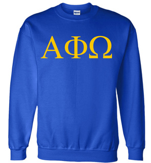 Alpha Phi Omega Lettered World Famous $19.95 Greek Crewneck
