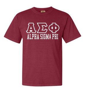 Alpha Sigma Phi Greek Outline Comfort Colors Heavyweight T-Shirt