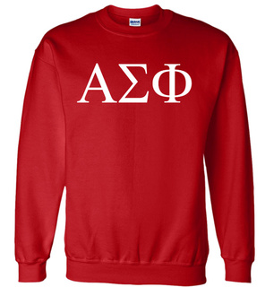 Alpha Sigma Phi Lettered World Famous Greek Crewneck