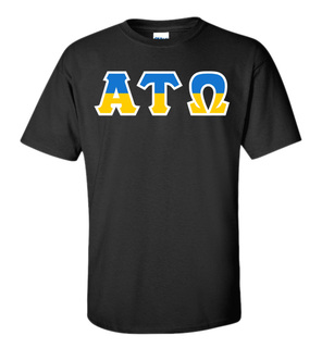 Alpha Tau Omega Two Tone Greek Lettered T-Shirt