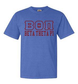 Beta Theta Pi Greek Outline Comfort Colors Heavyweight T-Shirt