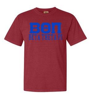 Beta Theta Pi Greek Custom Comfort Colors Heavyweight T-Shirt