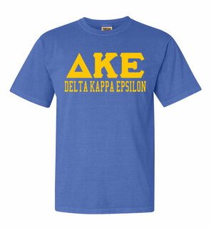 Delta Kappa Epsilon Greek Custom Comfort Colors Heavyweight T-Shirt