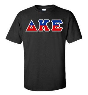 Delta Kappa Epsilon Two Tone Greek Lettered T-Shirt