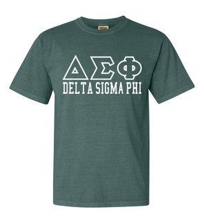 Delta Sigma Phi Greek Outline Comfort Colors Heavyweight T-Shirt