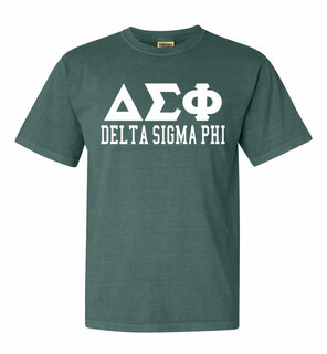 Delta Sigma Phi Greek Custom Comfort Colors Heavyweight T-Shirt