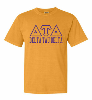Delta Tau Delta Greek Outline Comfort Colors Heavyweight T-Shirt