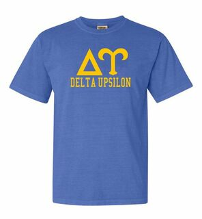 Delta Upsilon Greek Custom Comfort Colors Heavyweight T-Shirt