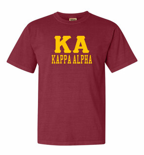 Kappa Alpha Greek Custom Comfort Colors Heavyweight T-Shirt