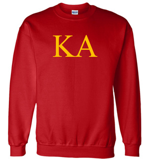 Kappa Alpha Lettered World Famous Greek Crewneck