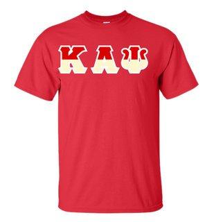 Kappa Alpha Psi Two Tone Greek Lettered T-Shirt