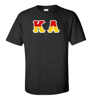 Kappa Alpha Two Tone Greek Lettered T-Shirt