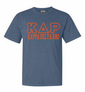 Kappa Delta Rho Greek Outline Comfort Colors Heavyweight T-Shirt