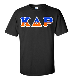 Kappa Delta Rho Two Tone Greek Lettered T-Shirt