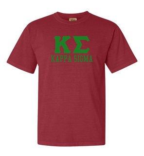 Kappa Sigma Greek Custom Comfort Colors Heavyweight T-Shirt