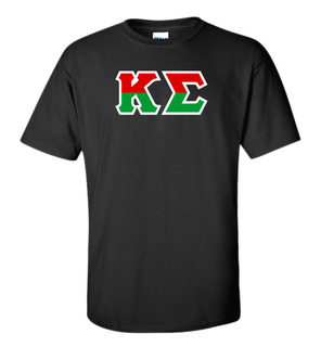 Kappa Sigma Two Tone Greek Lettered T-Shirt