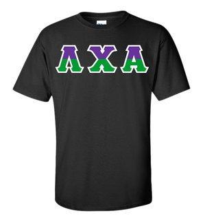 Lambda Chi Alpha Two Tone Greek Lettered T-Shirt
