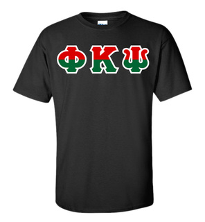 Phi Kappa Psi Two Tone Greek Lettered T-Shirt
