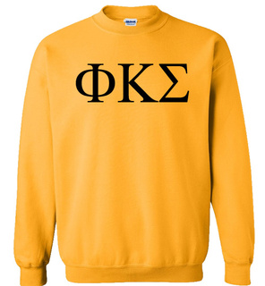 Phi Kappa Sigma Lettered World Famous Greek Crewneck