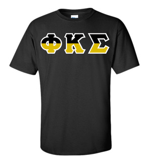 Phi Kappa Sigma Two Tone Greek Lettered T-Shirt