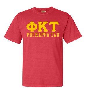 Phi Kappa Tau Greek Custom Comfort Colors Heavyweight T-Shirt