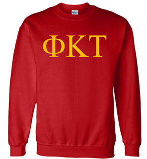 Phi Kappa Tau Lettered World Famous Greek Crewneck