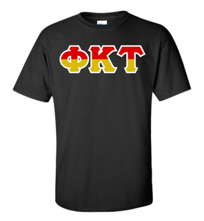 Phi Kappa Tau Two Tone Greek Lettered T-Shirt