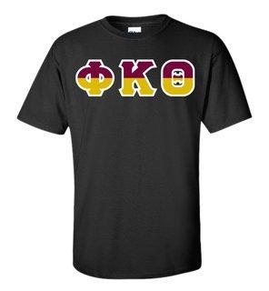 Phi Kappa Theta Two Tone Greek Lettered T-Shirt