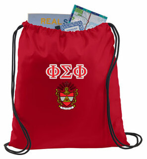 Phi Sigma Phi Crest - Shield Cinch Sack
