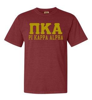 Pi Kappa Alpha Greek Custom Comfort Colors Heavyweight T-Shirt