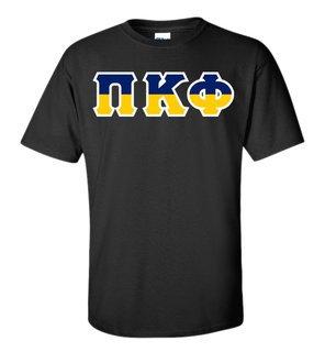 Pi Kappa Phi Two Tone Greek Lettered T-Shirt