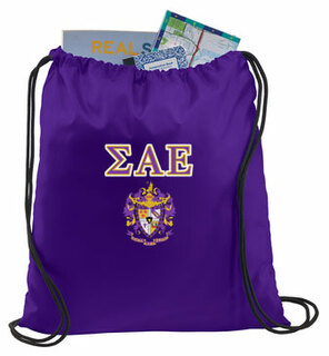 Sigma Alpha Epsilon Crest - Shield Cinch Sack