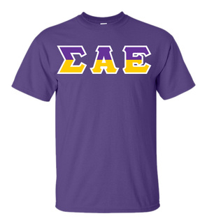 Sigma Alpha Epsilon Two Tone Greek Lettered T-Shirt
