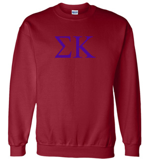 Sigma Kappa Lettered World Famous Greek Crewneck