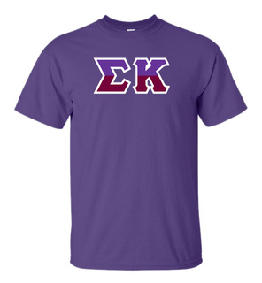 Sigma Kappa Two Tone Greek Lettered T-Shirt