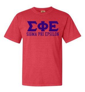 Sigma Phi Epsilon Greek Custom Comfort Colors Heavyweight T-Shirt