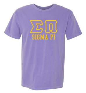 Sigma Pi Greek Outline Comfort Colors Heavyweight T-Shirt