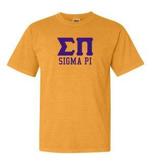 Sigma Pi Greek Custom Comfort Colors Heavyweight T-Shirt