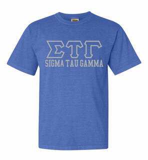 Sigma Tau Gamma Greek Outline Comfort Colors Heavyweight T-Shirt